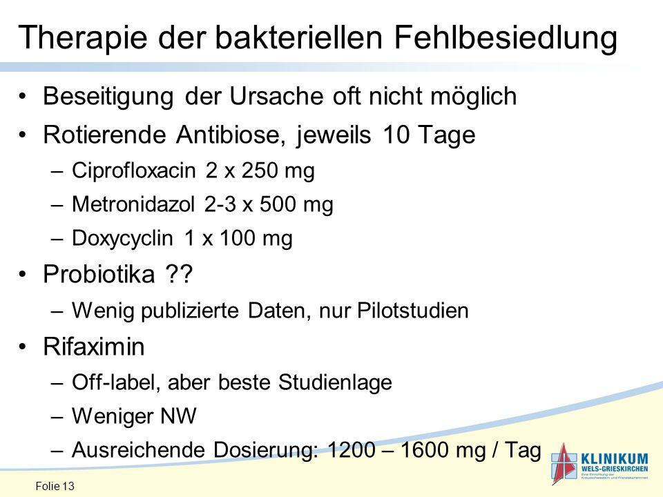 Therapie der bakteriellen Fehlbesiedlung