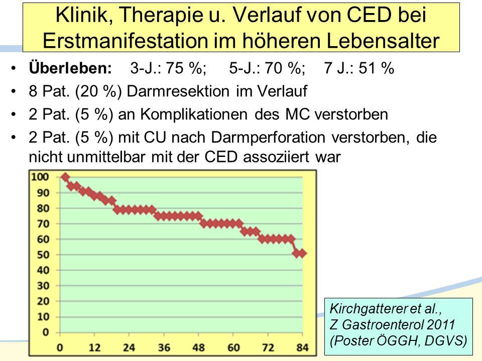 Klinik, Therapie u. Verlauf von CED bei Erstmanifestation im höheren Lebensalter