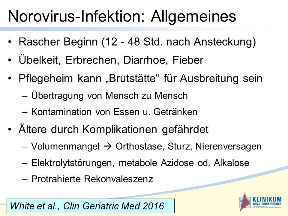 Norovirus-Infektion: Allgemeines