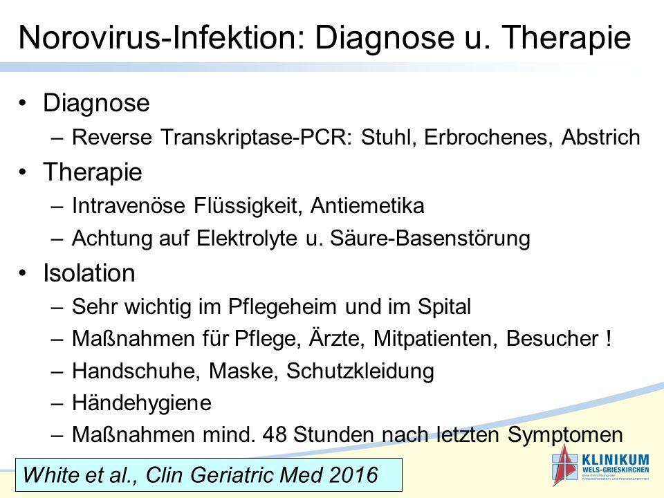 Norovirus-Infektion: Diagnose u. Therapie