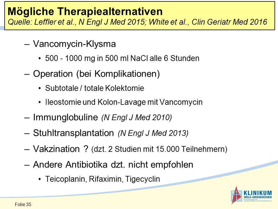 Mögliche Therapiealternativen Quelle: Leffler et al