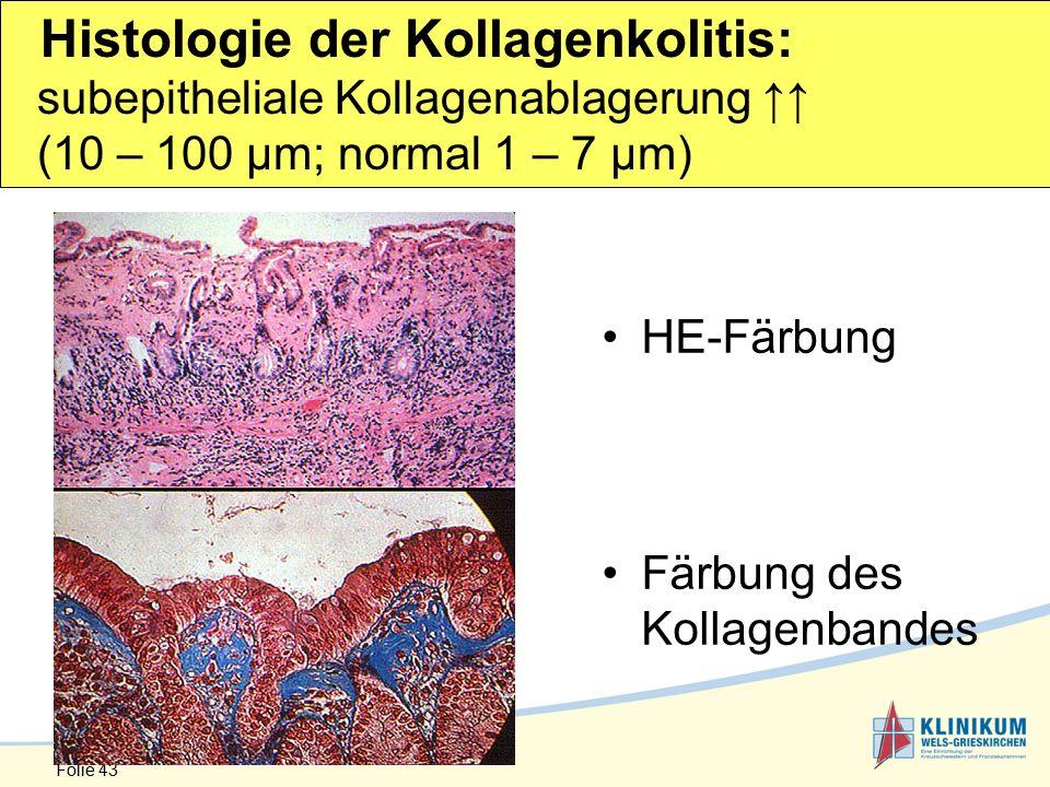 Histologie der Kollagenkolitis: