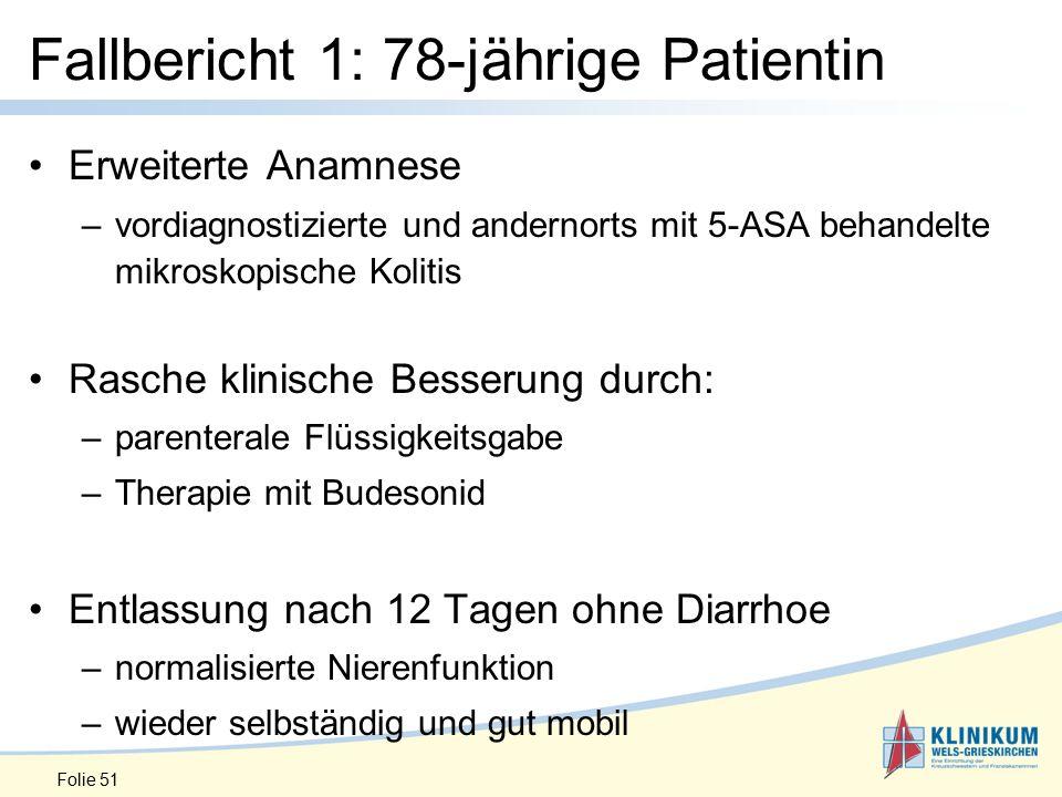 Fallbericht 1: 78-jährige Patientin