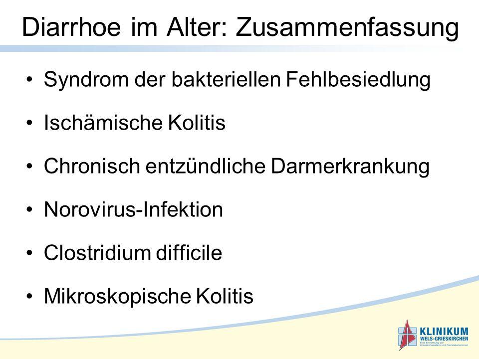 Diarrhoe im Alter: Zusammenfassung