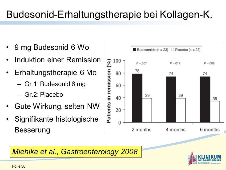 Budesonid-Erhaltungstherapie bei Kollagen-K.