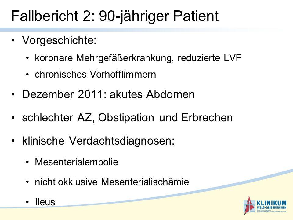 Fallbericht 2: 90-jähriger Patient