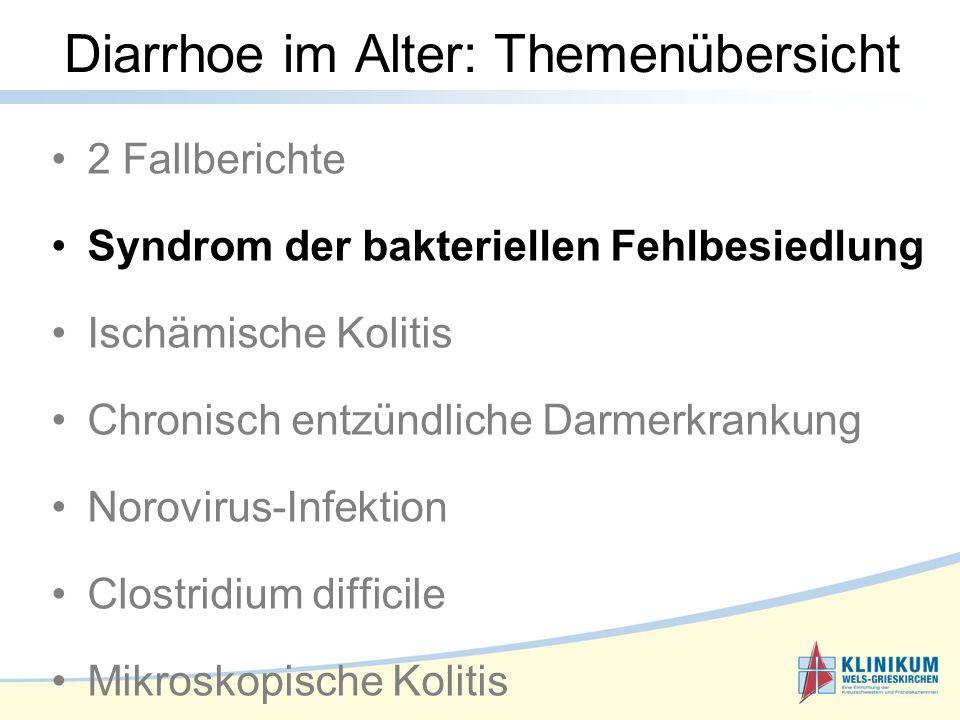 Diarrhoe im Alter: Themenübersicht