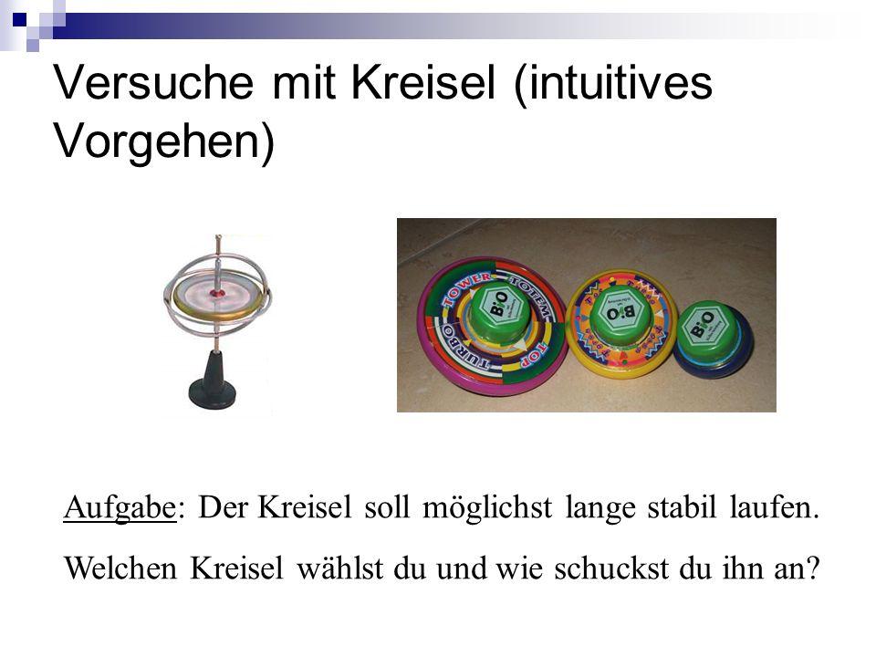 Versuche mit Kreisel (intuitives Vorgehen)
