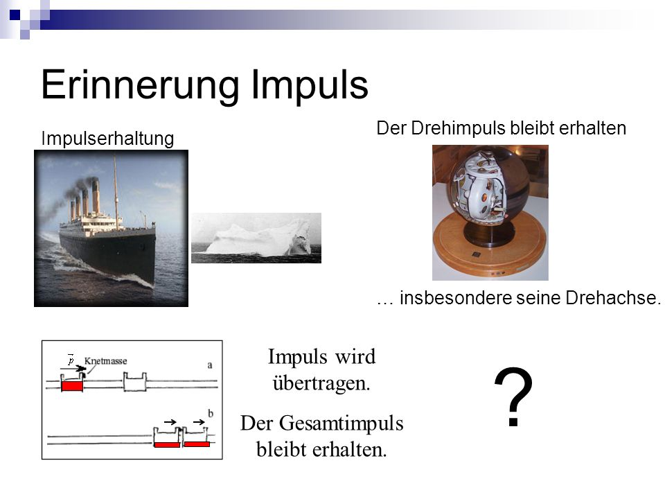 Erinnerung Impuls Impuls wird übertragen.