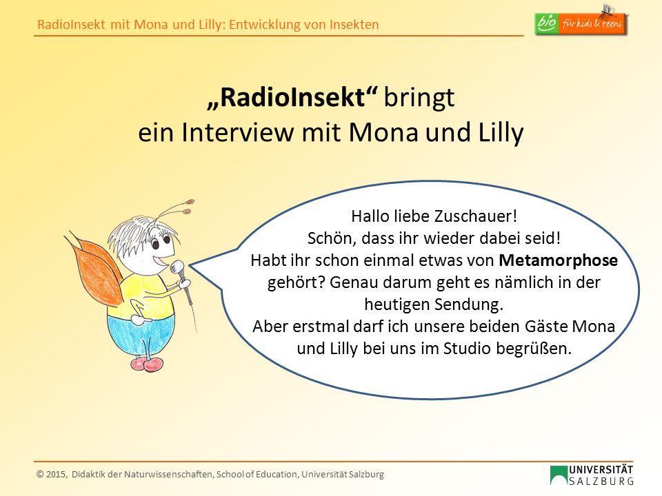 """""""RadioInsekt bringt ein Interview mit Mona und Lilly"""