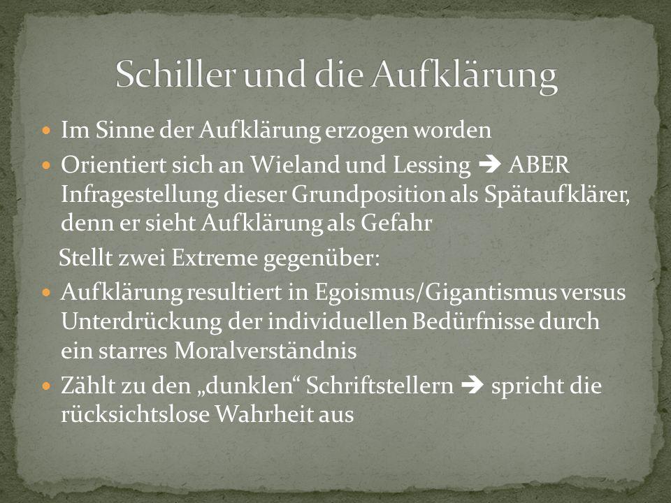 Schiller und die Aufklärung