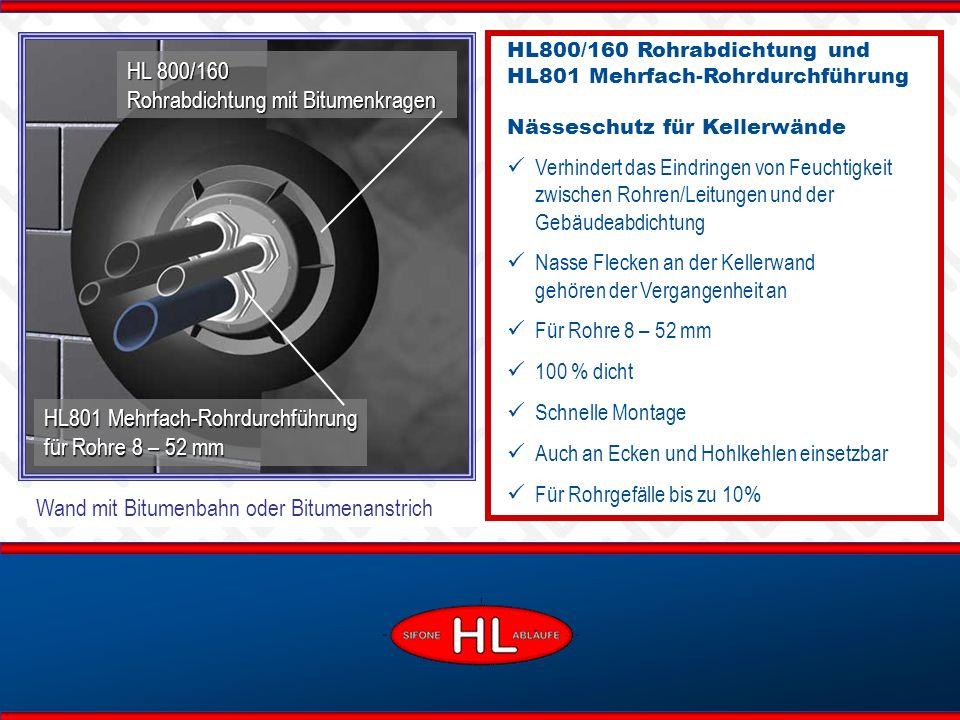 HL 800/160 Rohrabdichtung mit Bitumenkragen