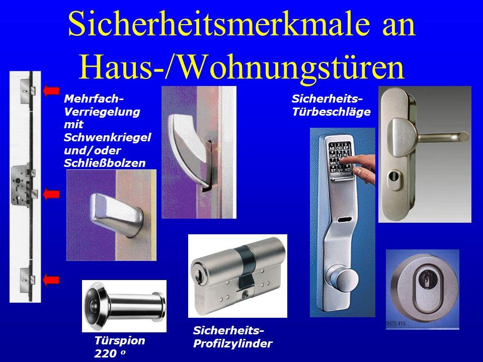 Sicherheitsmerkmale an Haus-/Wohnungstüren