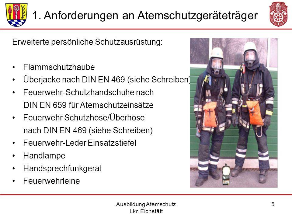 1. Anforderungen an Atemschutzgeräteträger