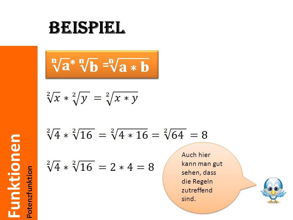 Beispiel * = n√a * n√b = n√a *b