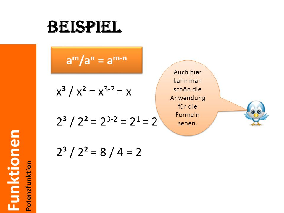 Auch hier kann man schön die Anwendung für die Formeln sehen.