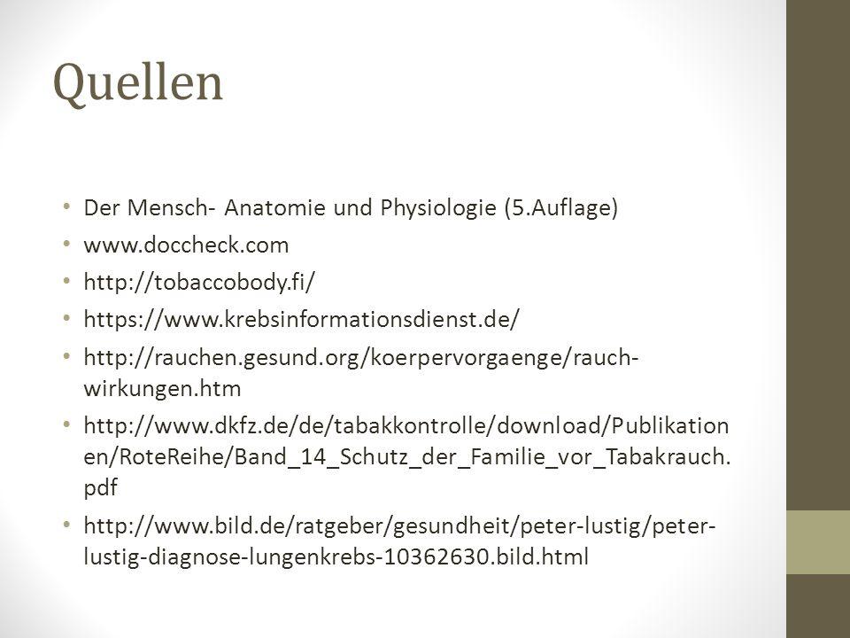 Quellen Der Mensch- Anatomie und Physiologie (5.Auflage)