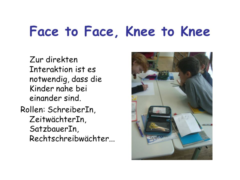 Face to Face, Knee to Knee