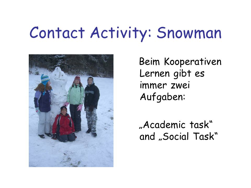 Contact Activity: Snowman