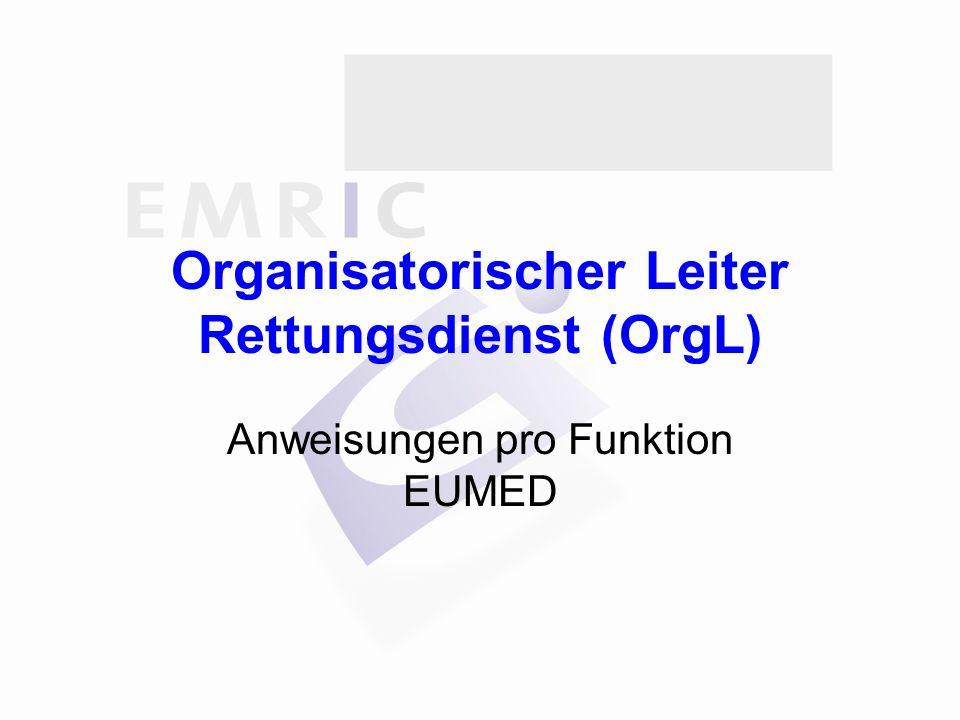 Organisatorischer Leiter Rettungsdienst (OrgL)