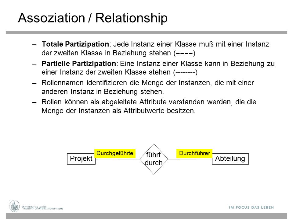 Assoziation / Relationship