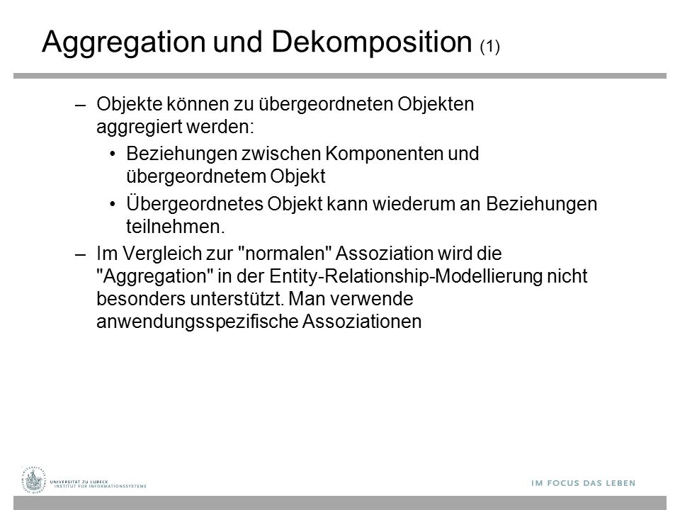 Aggregation und Dekomposition (1)