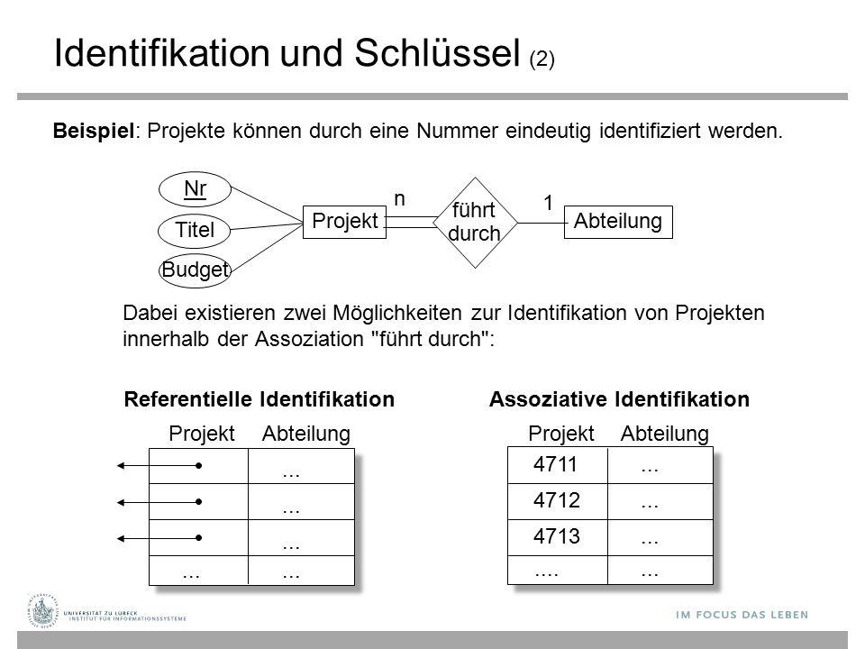 Identifikation und Schlüssel (2)