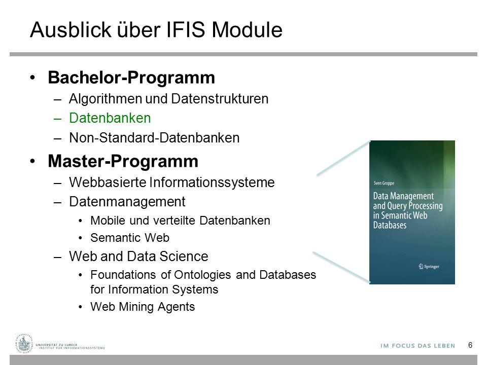 Ausblick über IFIS Module