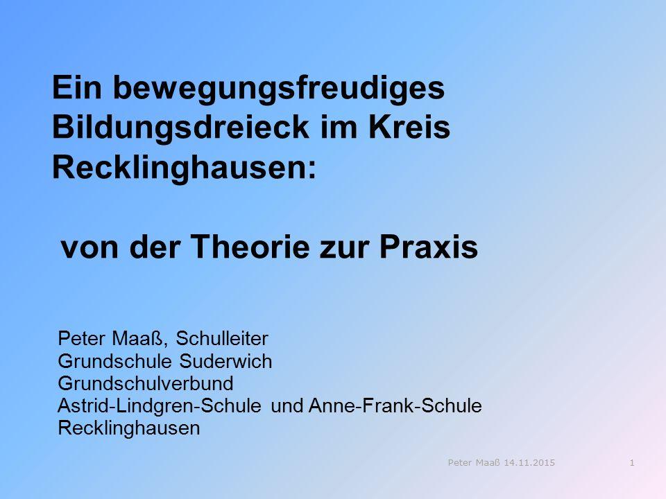 Ein bewegungsfreudiges Bildungsdreieck im Kreis Recklinghausen: von der Theorie zur Praxis