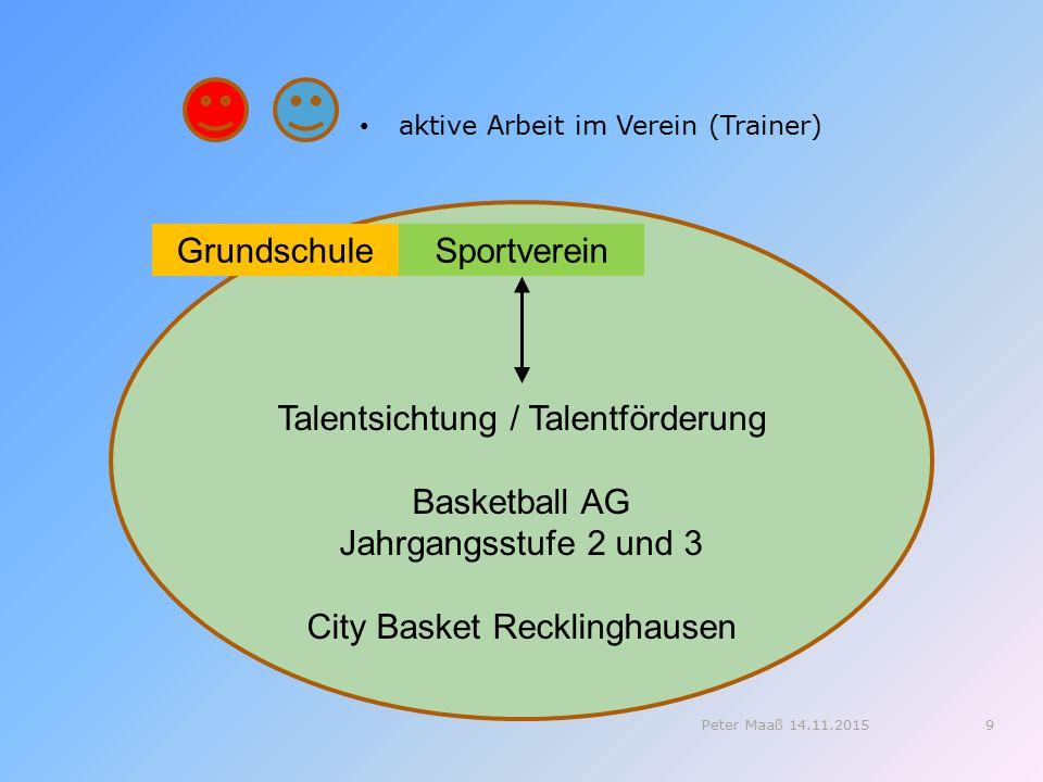 Talentsichtung / Talentförderung Basketball AG Jahrgangsstufe 2 und 3