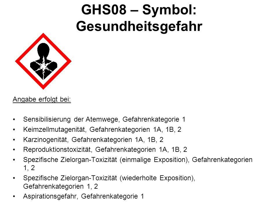 GHS08 – Symbol: Gesundheitsgefahr