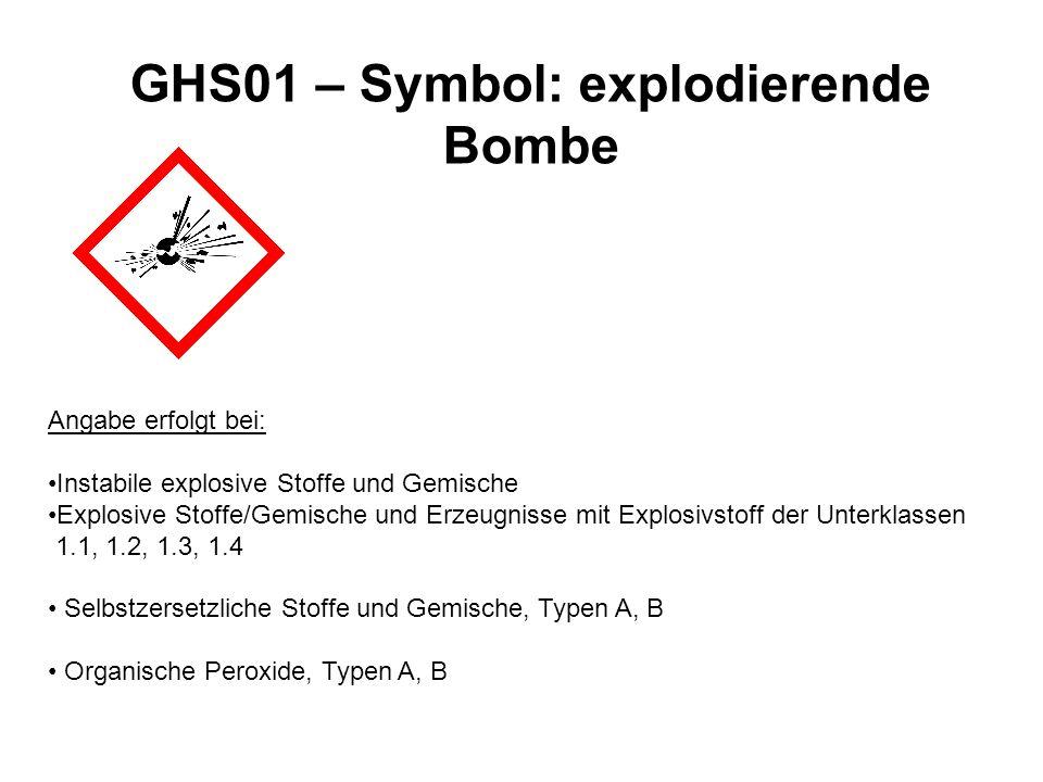 GHS01 – Symbol: explodierende Bombe