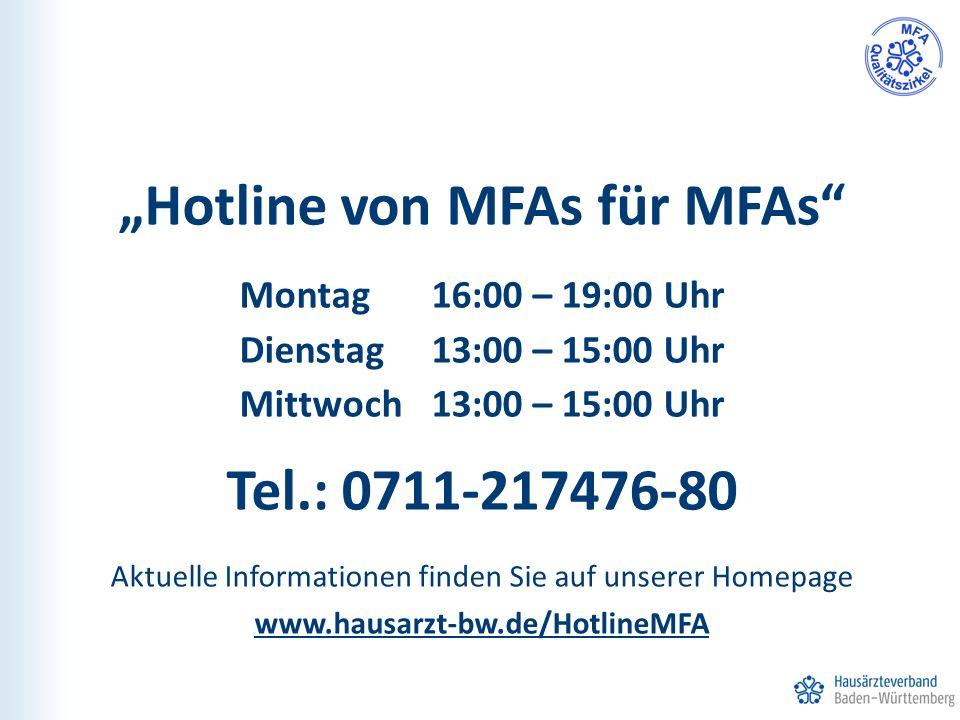 """""""Hotline von MFAs für MFAs"""