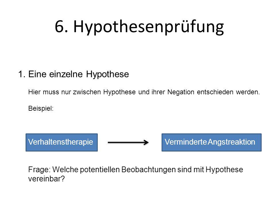 6. Hypothesenprüfung Eine einzelne Hypothese