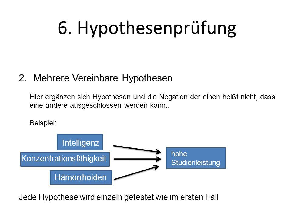 6. Hypothesenprüfung Mehrere Vereinbare Hypothesen