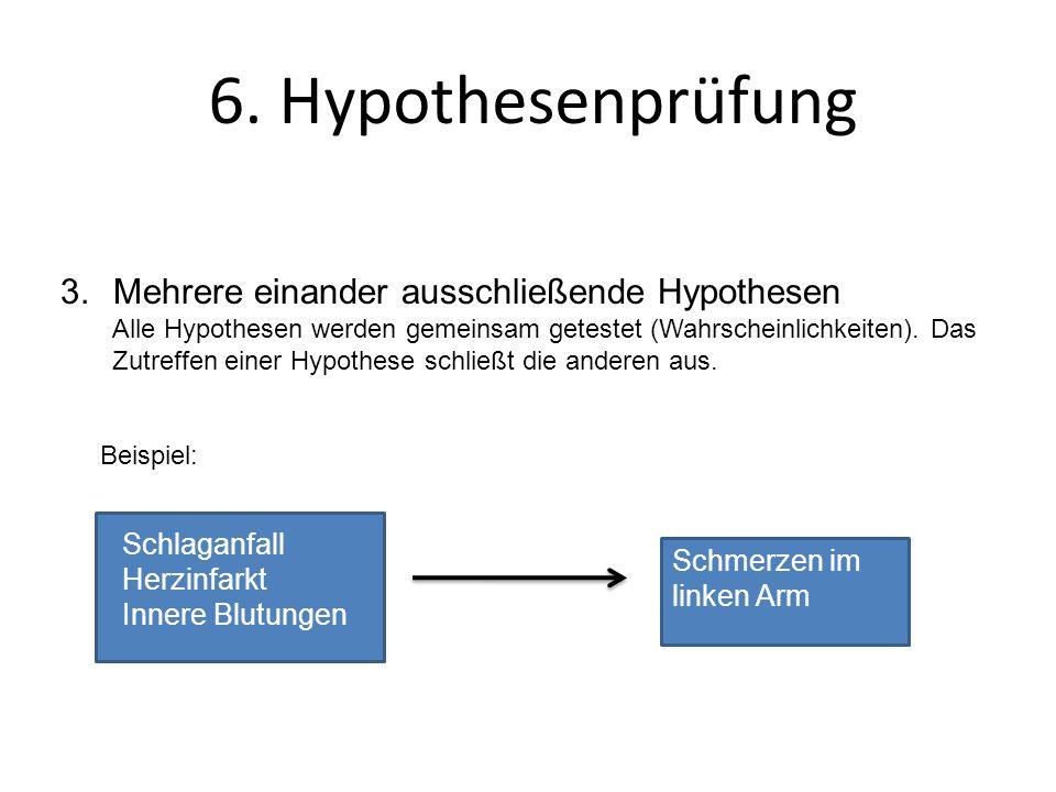 6. Hypothesenprüfung Mehrere einander ausschließende Hypothesen