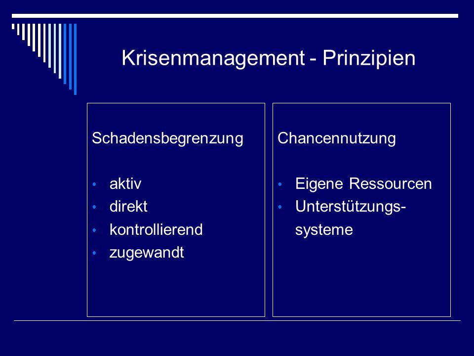 Krisenmanagement - Prinzipien