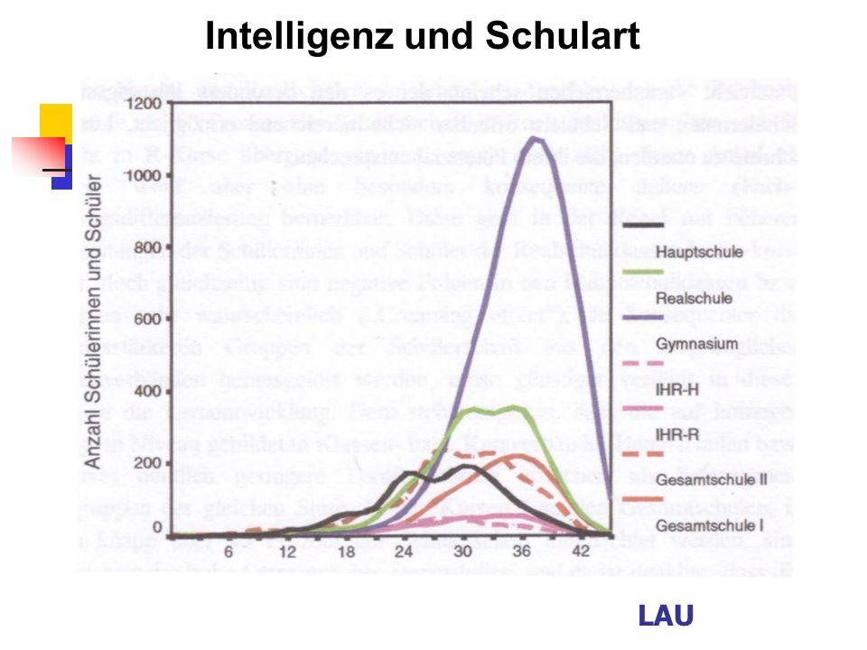 Intelligenz und Schulart