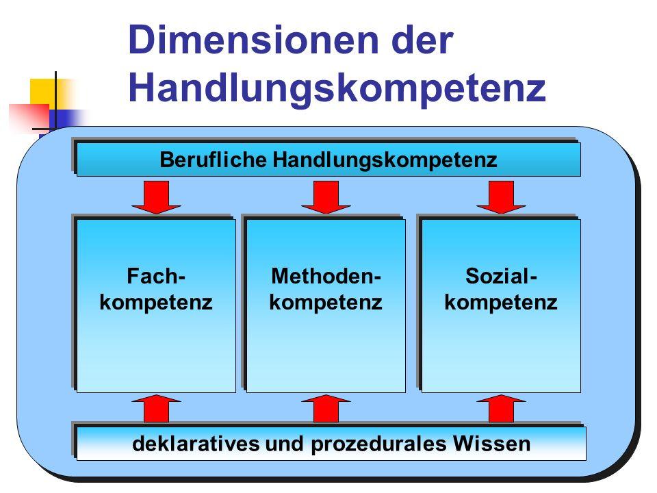 Berufliche Handlungskompetenz deklaratives und prozedurales Wissen