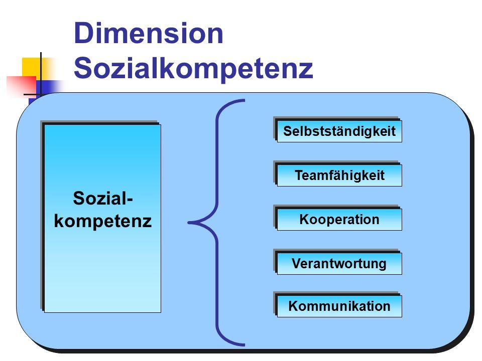Dimension Sozialkompetenz