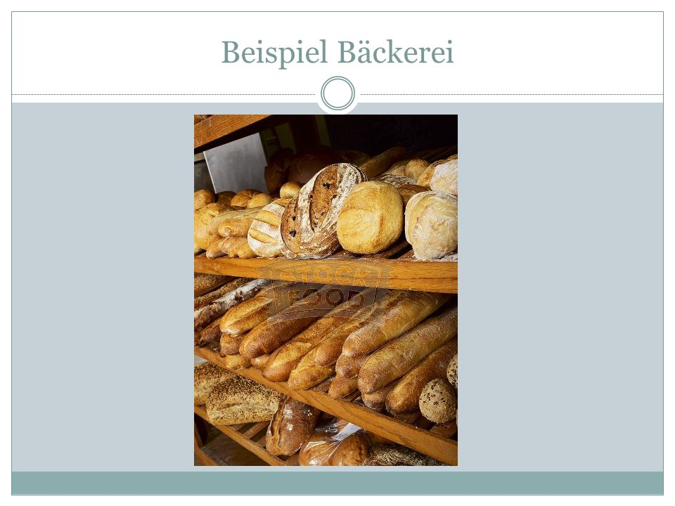 Beispiel Bäckerei
