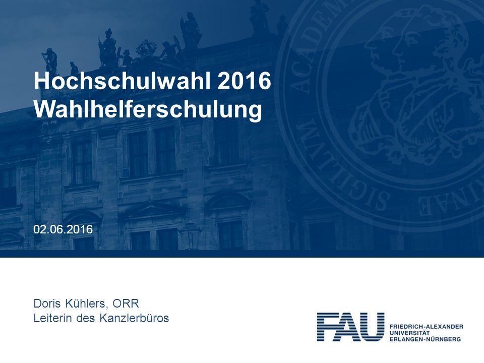 Hochschulwahl 2016 Wahlhelferschulung