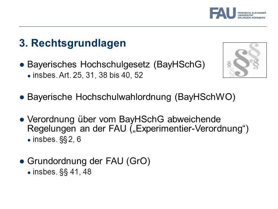 3. Rechtsgrundlagen Bayerisches Hochschulgesetz (BayHSchG)