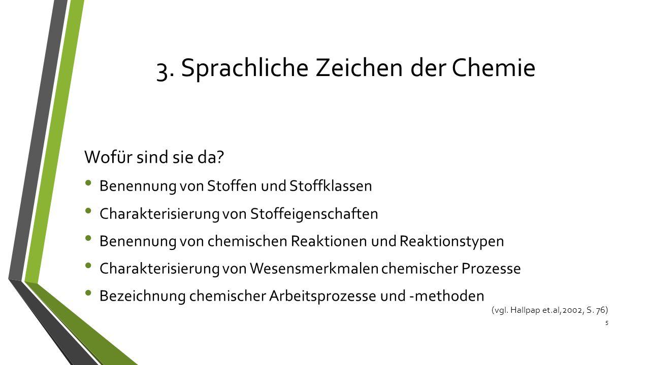 3. Sprachliche Zeichen der Chemie