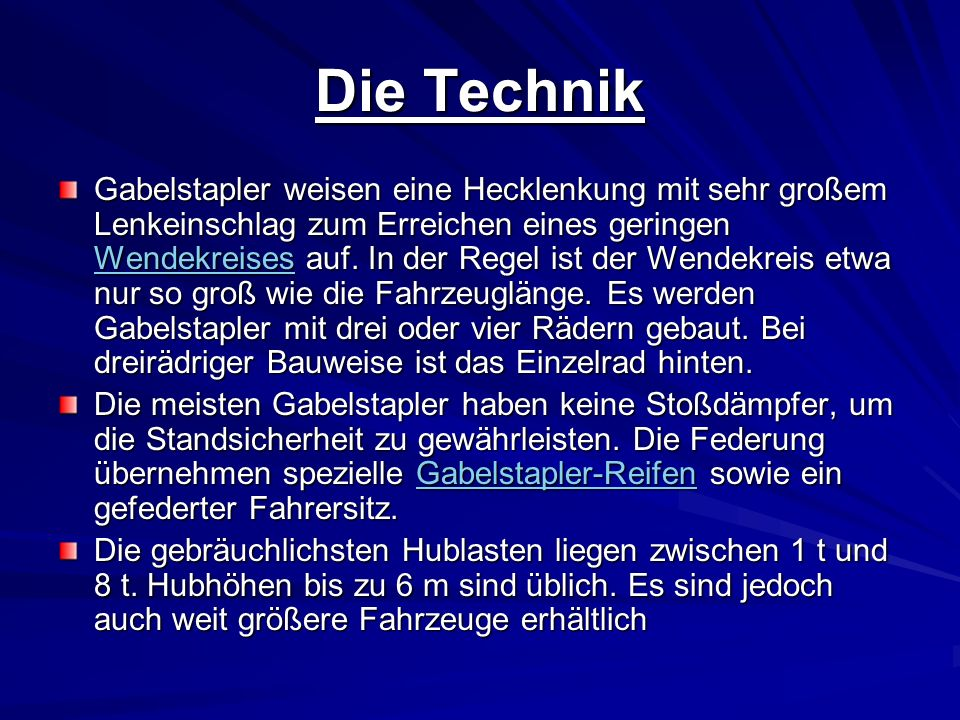 Die Technik