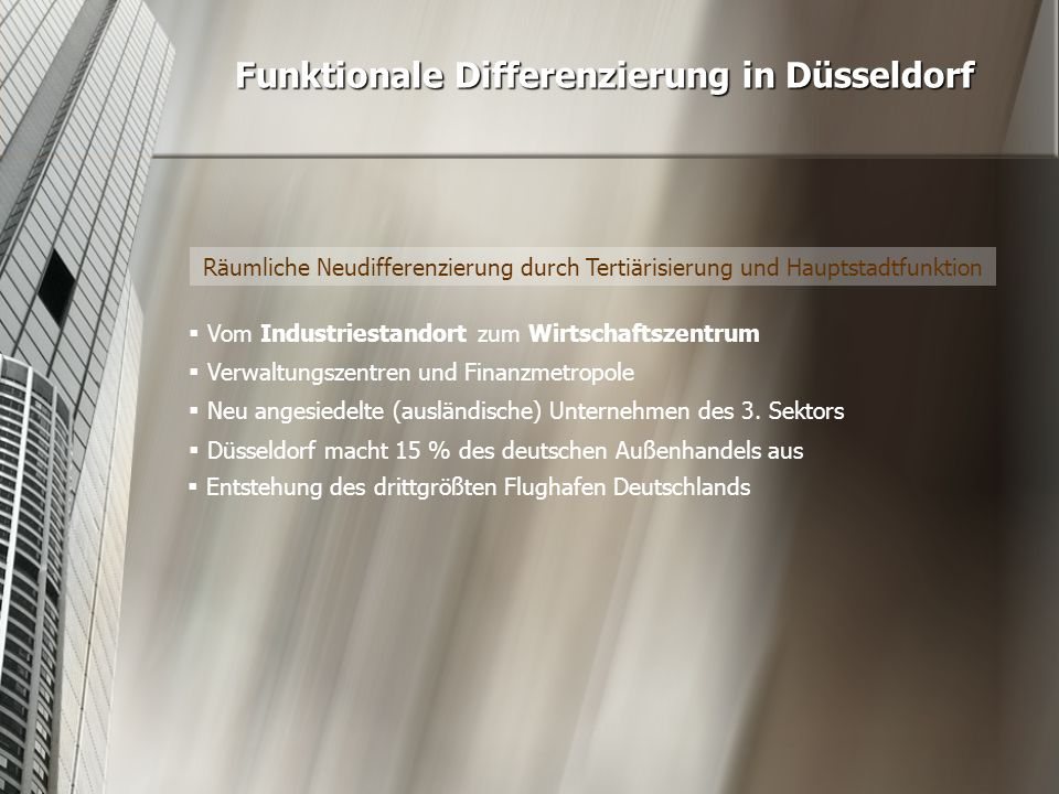 Funktionale Differenzierung in Düsseldorf