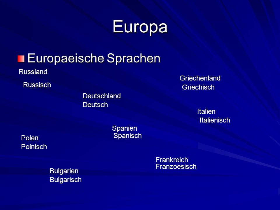 Europa Europaeische Sprachen Russland Griechenland Russisch Griechisch