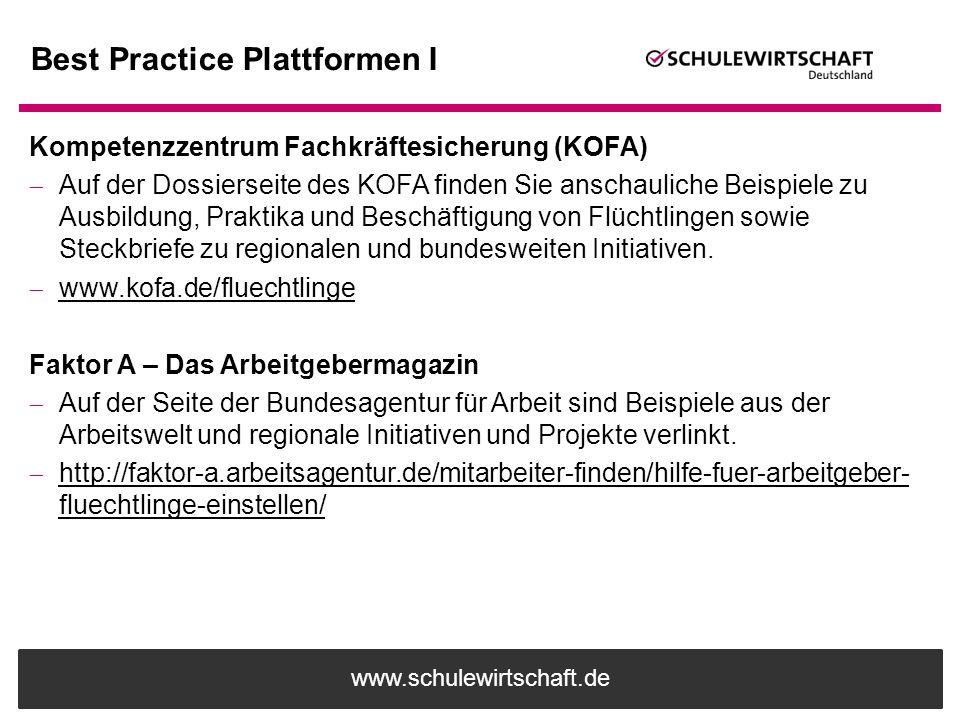 Best Practice Plattformen I
