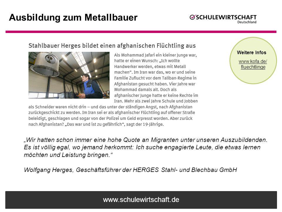 Ausbildung zum Metallbauer