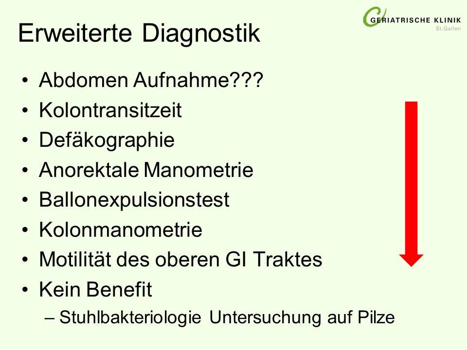 Erweiterte Diagnostik